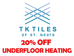 20% Off All Underfloor Heating at TK Tiles of St Neots