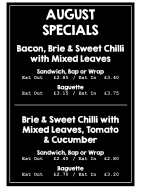 Extra tasty August Specials at Taste!
