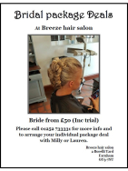 Bridal Package Deal at Breeze Salon from just £50!