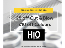 £5 off cut/blow services, £10 off all colour services