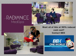 Be BBX Beautiful with luxury beauty treatment at Radiance MediSpa