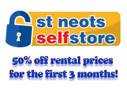 50% off Self Storage rental prices for the first 3 months!
