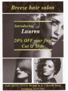 20% OFF your first Cut and Style