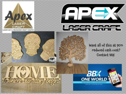 Use BBX to get Apex Laser's amazing design, create and print 'on the unexpected' service at 90% cost!