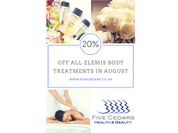 August Specials - 20% off all Elemis Body Treatments