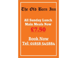 Sunday Lunch Main Meals - Just £7.50