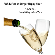 Fish & Fizz or Burger Happy Hour at The Cowper Arms Digswell