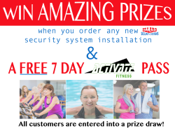 10% off new security system installations with lots of prizes to be won!
