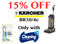 15% OFF the new Karcher BR30/4c cleaning machine.