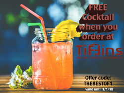 FREE Cocktail when you order!