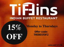 15% Off  Food Bill  Monday-Thursday