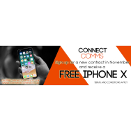 FREE IPHONE X FROM CONNECT COMMS!