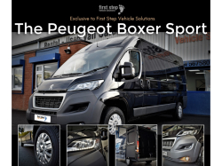 The Peugeot Boxer Sports Edition - Just £259 + VAT per month!
