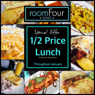 Half Price Lunch Throughout January
