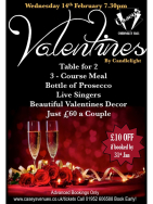 £10 off your Valentines Meal