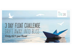 3 Day Float Challenge - Only £27 per Float*
