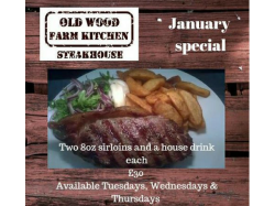 JANUARY SPECIAL! TWO CAN WINE AND DINE FOR £30!