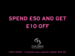 TUESDAY OFFER - £5 OFF ANY TREATMENT OVER £15 at Chatabox Hair and Beauty