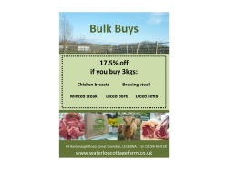 HUGE 17.5% Discounts With Bulk Buy Orders from Waterloo Cottage Farm!!