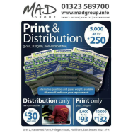 5,000 leaflets delivered for £250!