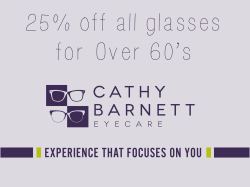 25% off all glasses for Over 60's