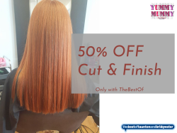 50% off Cut & Finish with any Colour service