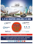 Save 5% on your Airport Transfer with Excelsior Cars