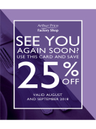 25% at Arthur Price Factory Shop