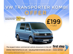VW Transporter Kombi for just £199 + VAT per month!