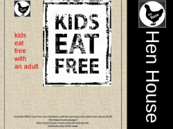 Kids eat free with an adult