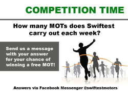 WIN a FREE Car MOT!