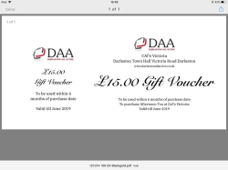 Afternoon Tea Voucher for Cafe Victoria at Darlaston Town Hall