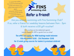 Fins Swimming Club Members - Refer a Friend.