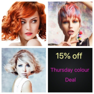 15% OFF HAIR COLOUR