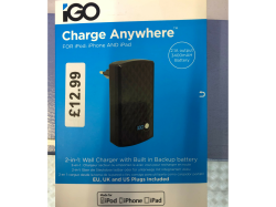 Charge anywhere: 2 in 1 wall charger with built in backup battery