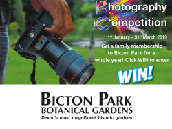 Bicton Park Photography Competition 2019