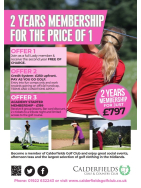 Ladies Golf - 2 Years Membership for the price of 1!