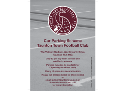 Taunton Town FC Car Parking for £2