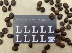 Your 10th Coffee is FREE! with the NEW Reward Card at Langton Greenhouse Cafe!
