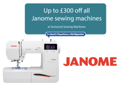 Up to £300 off any Janome sewing machines