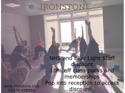 We are proud to offer a 10% discount off class packs and memberships to NHS and Blue Light staff.