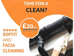 £20 Off Your Next Gutter Clear and/or Fascia & Soffit Clean.