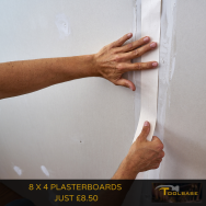 8x4 Plasterboards just £8.50 at Toolbase