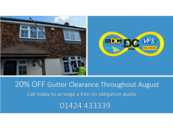 Get 20% off Gutter Clearances in August.
