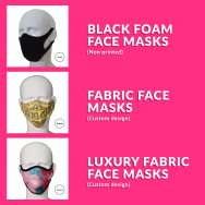 Customisable Face Masks at Competitive Prices!