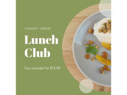 Enjoy Our Lunch Club 2 Course Meal for £12.99 at The Swan, Braybrooke!