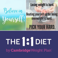 Free consultation and no weigh-in fees with The 1:1 Diet by Cambridge Weight Plan - Claire Harbun