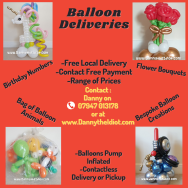Balloon deliveries to brighten the day!