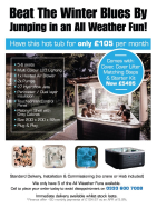 HOT TUBS FOR JUST £105 PER MONTH
