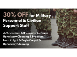 30% Discount For All Military Personnel & Civilian Support Staff